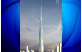 "What height will the planned worlds tallest ""Kingdom Tower"" in Jeddah, Saudi Arabia have?"